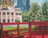 Crossing Bridges painting of downtown Orlando