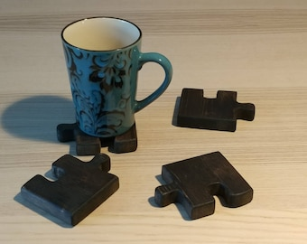 Stained Puzzle Piece Coasters/Trivet