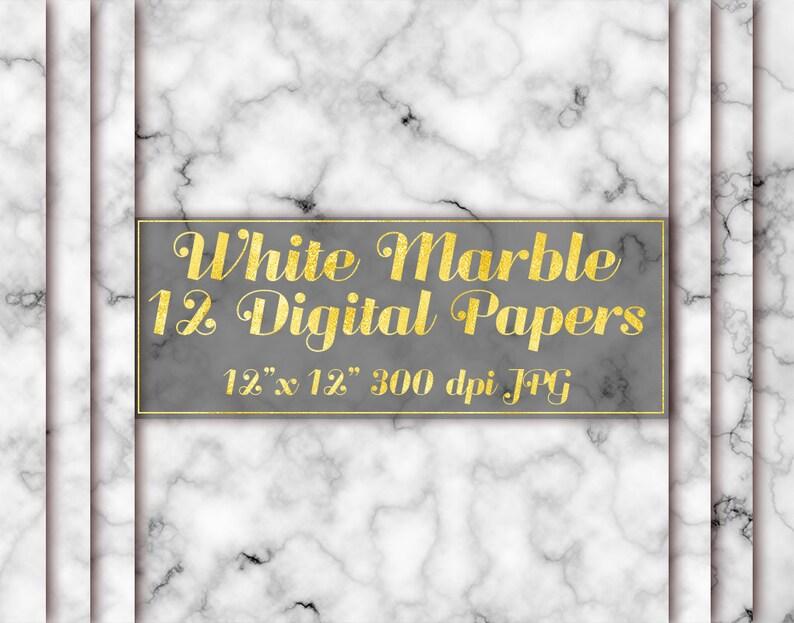Bianco Marmo Carta Digitale Sfondo Di Marmo Marmo Wallpaper Etsy