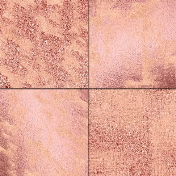 Rose Gold Grunge Digital Paper Rose Gold Wallpaper Rose Gold Foil Digital Paper Metallic Textures Grunge Wallpaper Grunge Background