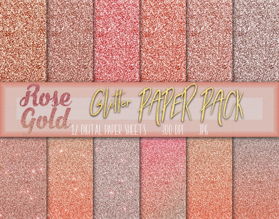 rose gold glitter digital paper glitter rose gold wallpaper etsy