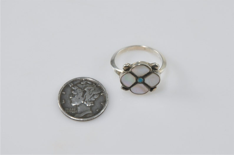 Signed Zuni Sterling Silver Ring Size 7