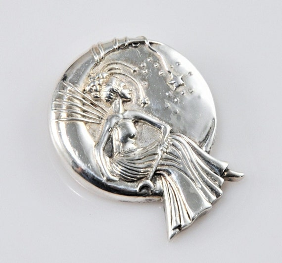 Jessica Galbreth Sterling Silver Moon Queen Fairy