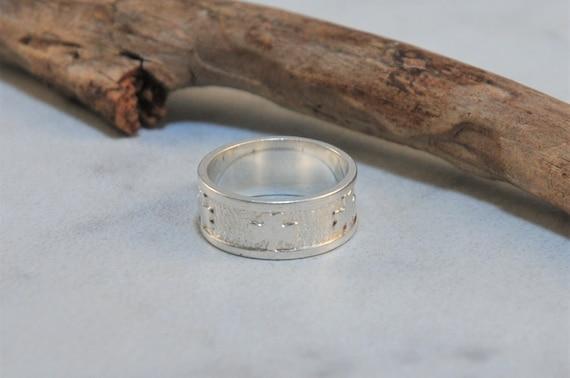 Sterling Silver Unisex Shamrock Three 3 Leaf Clover Ring