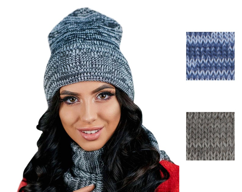 716a639a1ee Hat And Scarf Set Winter Hat Infinity Scarf Knitted Hat