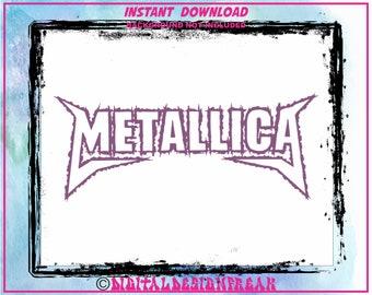 f925d36d7637f Metallica Heavy Metal Logo SVG DXF Vector Cut File Cricut Design