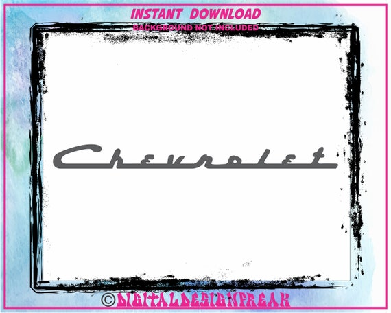 Download Chevrolet Old School Cut Files EPS SVG PNG Vector | Etsy