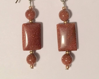 Sparkly Rectangle Earrings