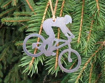 Lady Mountain Biker Ornament
