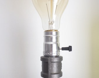 Old Industrial Style Vintage Retro Gas Pipe Desk Lamp