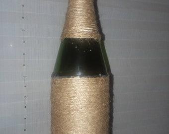 Ficelle enroulé Decor de bouteille de vin
