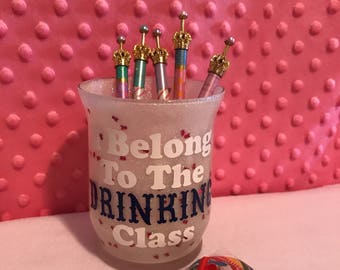Glitter (I Belong To The drinking Class) Make Up Brush Holder