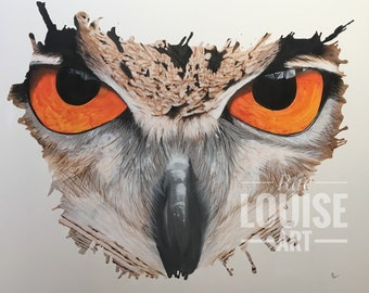 The Owl, Original Painting