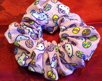 Hello Kitty Pink Easter Eggs Hair Scrunchie Scrunchy..Good for all hair types....Free US Shipping!!