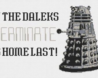 Dalek Exterminate Cross Stitch Pattern