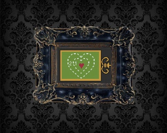 The Grinch's Heart is two sizes too small Cross Stitch Pattern PDF