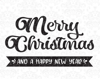 Merry Christmas svg, christmas, holiday, seasonal, winter, svg, svg, dxf, eps, Quote SVG, Cut File, Cricut, Silhouette, Instant download