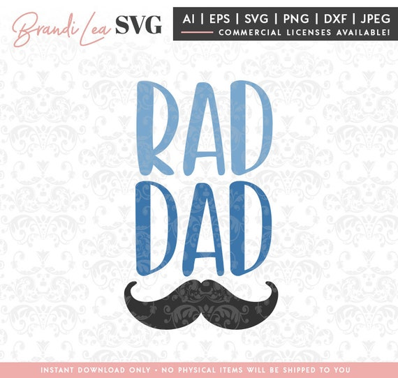 Rad Dad Svg Father S Day Svg Father Svg Family Quote Etsy