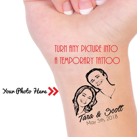 Individuelle Foto Tattoo Temporares Foto Tattoo Etsy