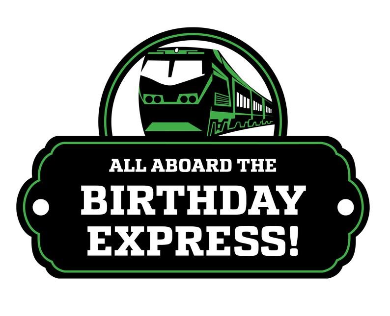 Train Birthday Party Decor Diesel Signs