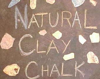 1 lb. of Natural Chalk // Pastel Colors // Clay Rocks
