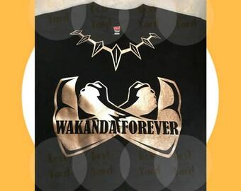 7fcbf2093 Wakanda Forever - Black Panther Inspired Tee
