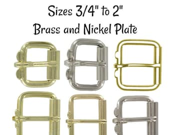 """50 mm 3//8/"""" to 2/"""" NICKEL PLATED Brass Bridle Harness  Buckle 10 mm 9 Sizes"""