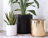 40 OFF - Ceramic Cylinder Planter w Small Defect Indoor Plant Pot
