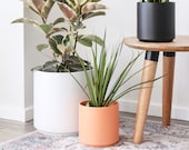 "Indoor Planter - Ceramic Plant Pot (15"", 12"", 10"", 8"" or 7"") - Large Flower Pot, Available in White, Black, Peach or Gold"