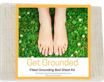 Grounding King Size Fitted Bed Sheet Kit - (198 X 203 cm)