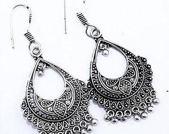 Plain .925 silver Dangler  Earrings  Size 1 1/2 Inches jewelry