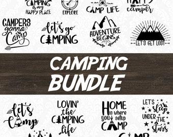 Camper SVG - Happy Camper SVG - Camping SVG - Camping Bundle - Camping Clip art - Camping Life - Adventure svg - Summer svg - Cutting file