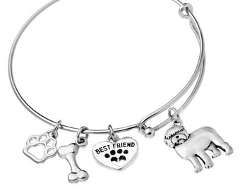 Old English Sheepdog Jewelry Old English Sheepdog Bracelet Jewelry Sterling Silver Handmade Dog Bracelet OE1-CB