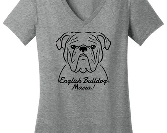 0adce74c10e English Bulldog Mama T-Shirt
