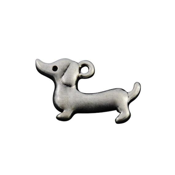 5eb96c9c9267c Dachshund Charm, Dachshund Jewelry, Doxie Charm, Doxie Jewelry, Silver  Plated Dachshund Dog Charm, Gift for Dachshund Owner