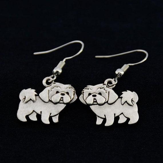 Shih Tzu Earrings Shih Tzu Jewelry Shih Tzu Owner Gift Gift Etsy