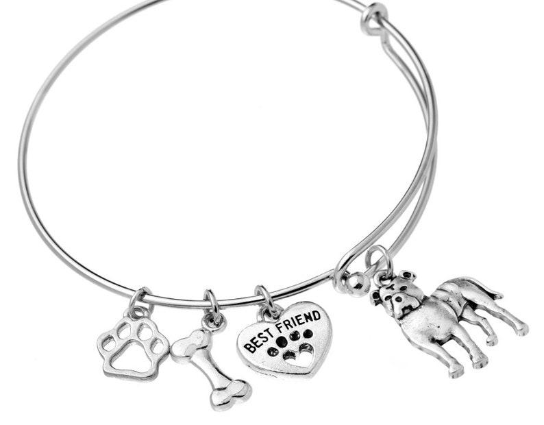 f51d544803f Pitbull Charm Bracelet Pitbull Natural Ears Bracelet Pitbull | Etsy