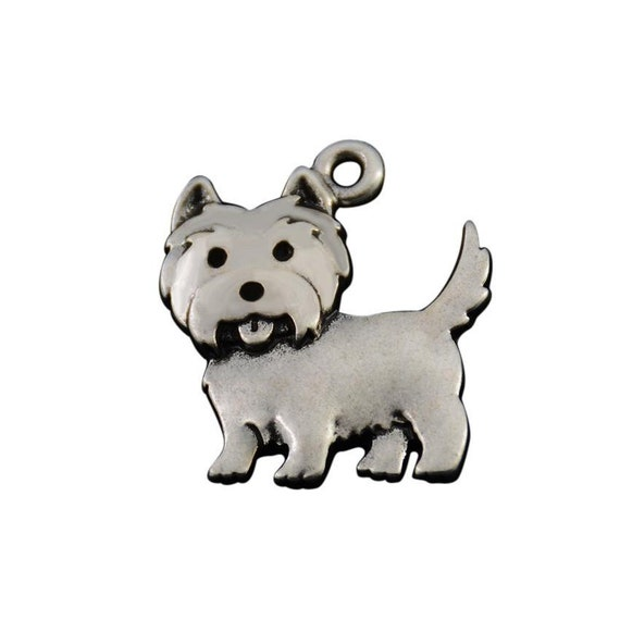 Sterling Silver West Highland Terrier Disc Charm
