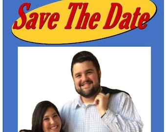 Seinfeldesque Custom Funny Save the Dates - Affordable & Creative