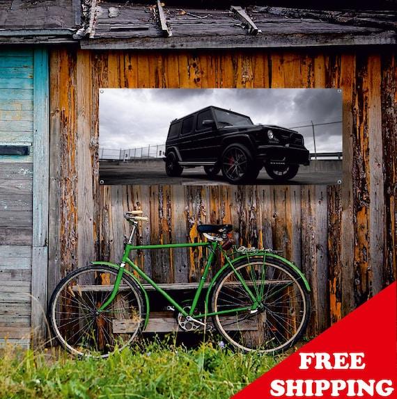 Mercedes Benz G63 Used: Banner Vinyl Mercedes-Benz Gelandewagen G63 Wall Garage