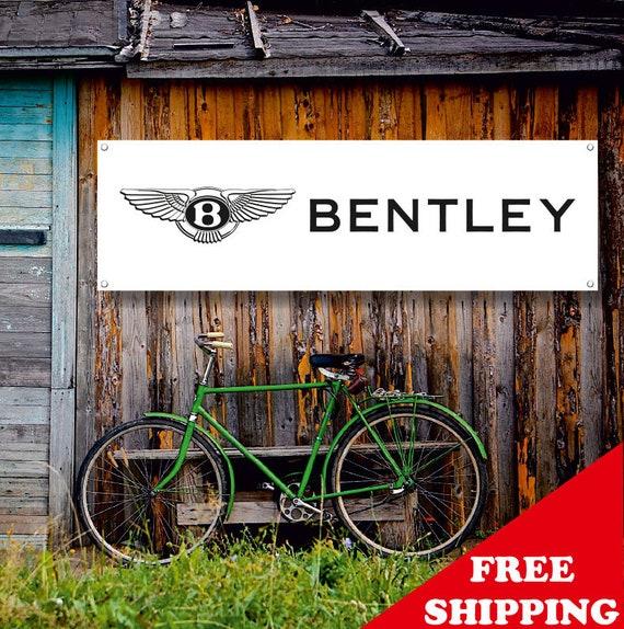 BENTLEY Vinyl Banner Sign Garage WorkShop Logo Flag Poster Free Shipping