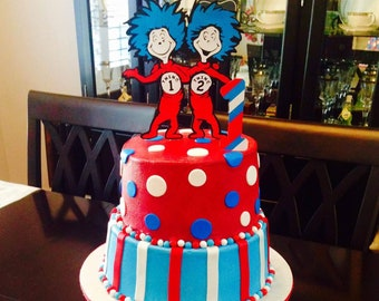 Thing 2 cake topper Etsy