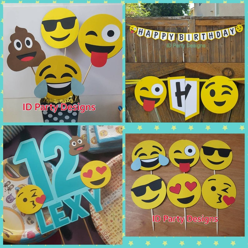EMOJI PARTY PACKAGE Emoji Banner Centerpiece