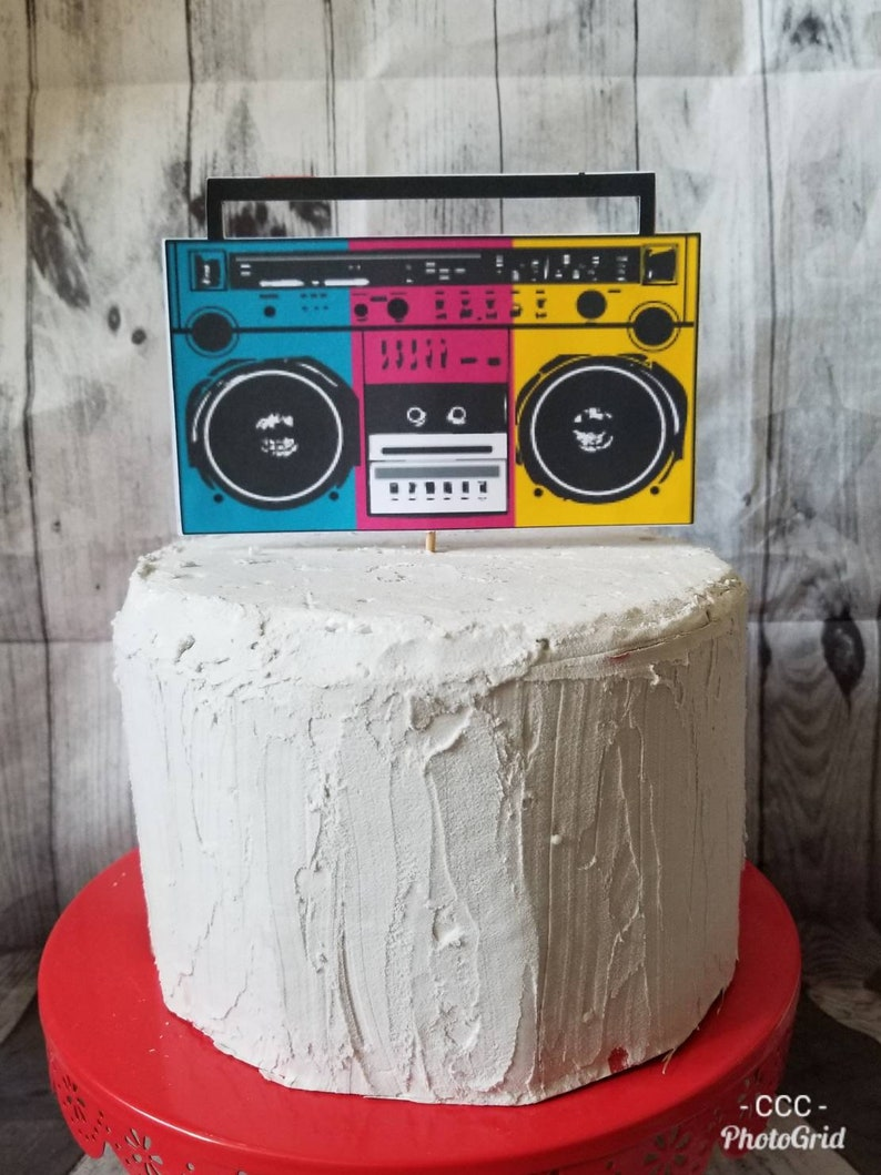 HIP HOP BIRTHDAY Cake Topper Fresh Prince Boom Box 90s Themed
