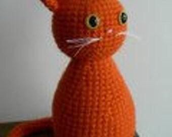 Instant Download - Crochet Pattern - Cat Amigurumi