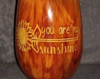 Wood Grain Drinking Glass