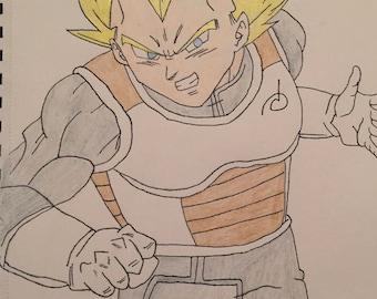 Super Saiyan Vegeta Drawing