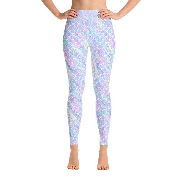 Mermaid Scale Unicorn Rainbow Poop Yoga Leggings Pants Pastel Etsy