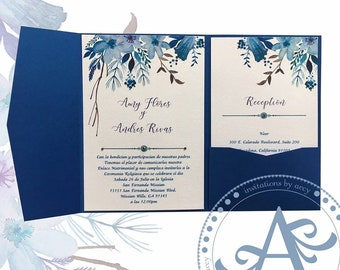 Royal blue wedding invitations etsy royal blue invitations filmwisefo