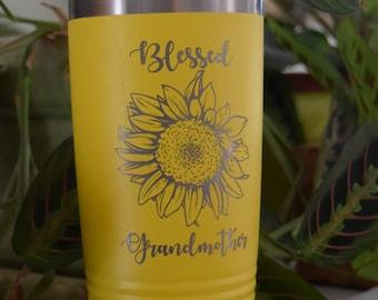 Blessed Sunflower Tumbler